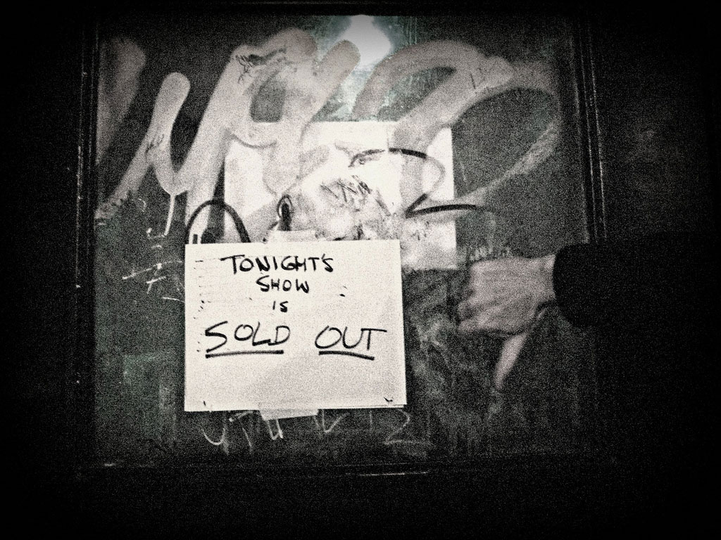 Sold Out Show Sign