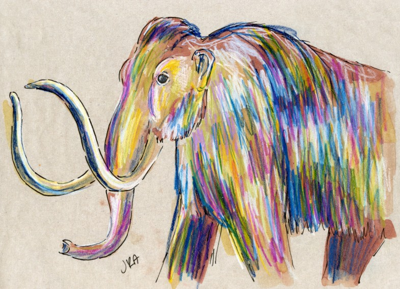 how to draw a wooly mammoth