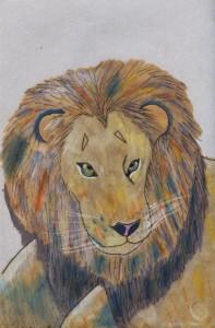 V's lion