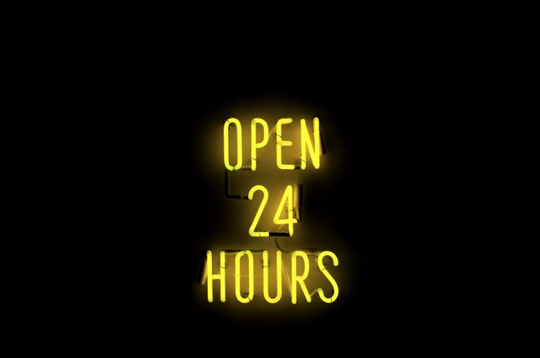 Open 24 Hours by Roey Ahram, licensed through Creative Commons