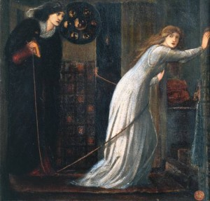 Fair Rosamund and Queen Eleanor by E.C. Burne-Jones, 1862