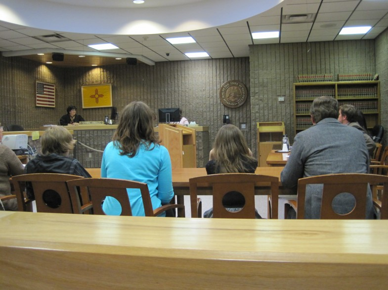 The adoption finalization courtroom