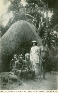 photo of Gabrielle Vassal with native French Congolese women
